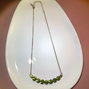 NWOT Gorgeous Lime Green Necklace